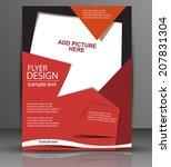 flyer design   vector business  ... | Shutterstock .eps vector #207831304