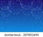 shiny fireworks with stars on... | Shutterstock . vector #207831694
