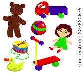 set of children toys | Shutterstock .eps vector #207835879