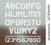 viking sanserif font and... | Shutterstock .eps vector #207836440