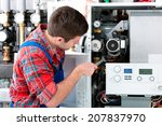 technician servicing the gas... | Shutterstock . vector #207837970