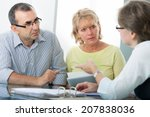 couple getting financial advice ... | Shutterstock . vector #207838036