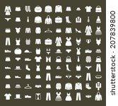 clothes icon vector set  vector ... | Shutterstock .eps vector #207839800