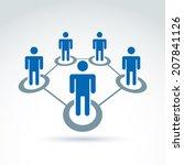 social network vector... | Shutterstock .eps vector #207841126