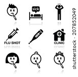 cold  flu  sick people vector... | Shutterstock .eps vector #207852049