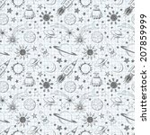 seamless space pattern. can be... | Shutterstock .eps vector #207859999