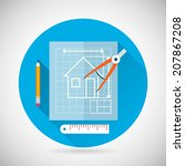 engineering planning symbol... | Shutterstock .eps vector #207867208