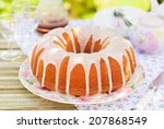 Summer Bundt Cake Topped With...