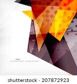 modern 3d glossy overlapping... | Shutterstock .eps vector #207872923