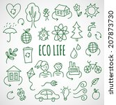 vector hand drawn ecological... | Shutterstock .eps vector #207873730