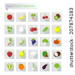 fruits and vegetables | Shutterstock .eps vector #207874183