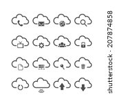 Cloud Computing Icon Set  Each...
