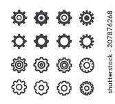 settings icon set | Shutterstock .eps vector #207876268