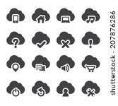 set of cloud icons | Shutterstock .eps vector #207876286