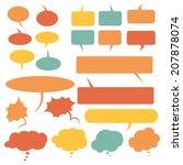 vector set of color flat comics ... | Shutterstock .eps vector #207878074