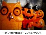 row of vintage mid century... | Shutterstock . vector #207879004