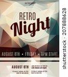 retro style night club flyer... | Shutterstock .eps vector #207888628