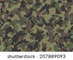 woodland seamless camo texture... | Shutterstock .eps vector #207889093