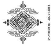 tribal vintage ethnic... | Shutterstock .eps vector #207893056