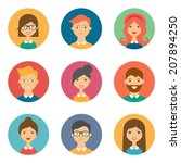 set of avatars. vector... | Shutterstock .eps vector #207894250