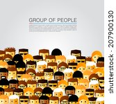 a large group of people  head... | Shutterstock .eps vector #207900130