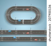 racing on the road  circular... | Shutterstock .eps vector #207900136