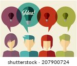 people icons with dialog idea... | Shutterstock .eps vector #207900724