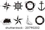 nautical vector symbols | Shutterstock .eps vector #20790202