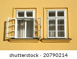 two windows on the yellow wall | Shutterstock . vector #20790214