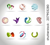 abstract web icons set | Shutterstock .eps vector #207903280