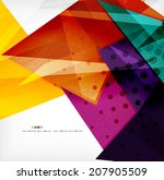 modern 3d glossy overlapping... | Shutterstock . vector #207905509