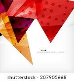 modern 3d glossy overlapping...   Shutterstock . vector #207905668