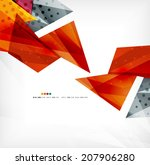 3d futuristic shapes abstract... | Shutterstock . vector #207906280