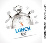 stopwatch   lunch time   Shutterstock .eps vector #207912034