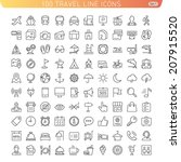 travel line icons for web and... | Shutterstock .eps vector #207915520