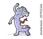 cartoon crazy monster | Shutterstock .eps vector #207921166