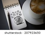 piggy bank and icons design to... | Shutterstock . vector #207923650