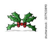 cartoon holly | Shutterstock .eps vector #207923890