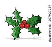 cartoon holly | Shutterstock .eps vector #207927259