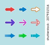 set of modern colorful arrows...