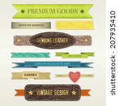 vintage elements set | Shutterstock .eps vector #207935410