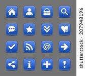 16 cobalt satin icon with white ...