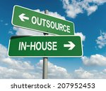 a road sign with outsource... | Shutterstock . vector #207952453
