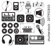 digital music icons theme | Shutterstock .eps vector #207952810