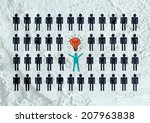 people icons  think different... | Shutterstock . vector #207963838