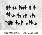 people family pictogram on... | Shutterstock . vector #207963883