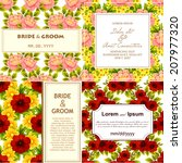 wedding invitation cards with... | Shutterstock . vector #207977320