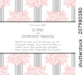 wedding invitation cards with... | Shutterstock . vector #207980380