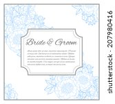 wedding invitation cards with...   Shutterstock . vector #207980416