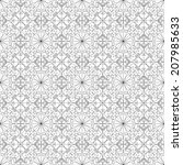 black and white geometric... | Shutterstock . vector #207985633